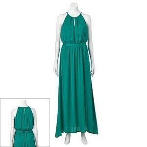 Jennifer Lopez Emerald Green Maxi Dress